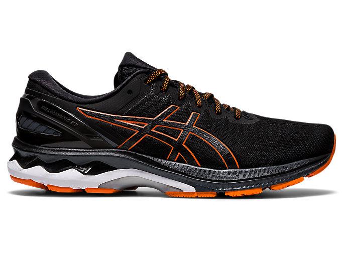 Men's GEL-KAYANO 27 | Black/Marigold Orange | Running Shoes | ASICS