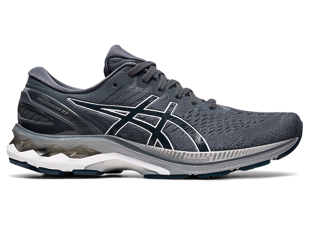 Men's GEL-KAYANO 27   Carrier Grey/French Blue   Running Shoes   ASICS