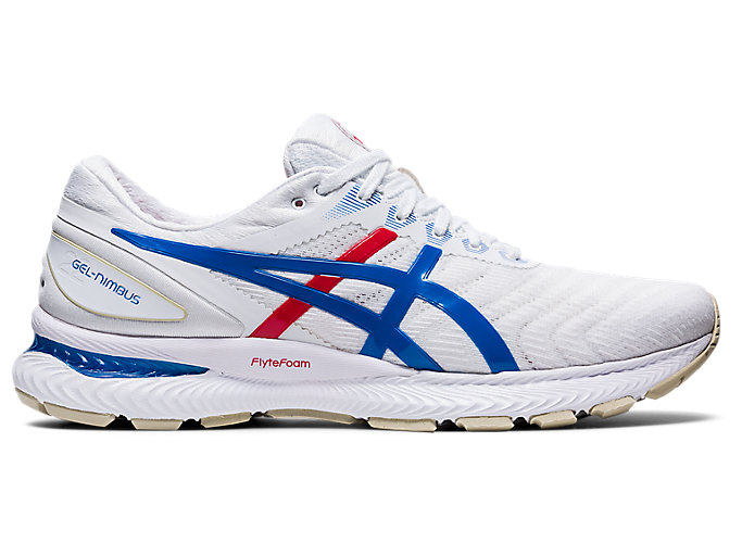 Men's GEL-Nimbus 22 Retro Tokyo | White/Electric Blue | Running ...