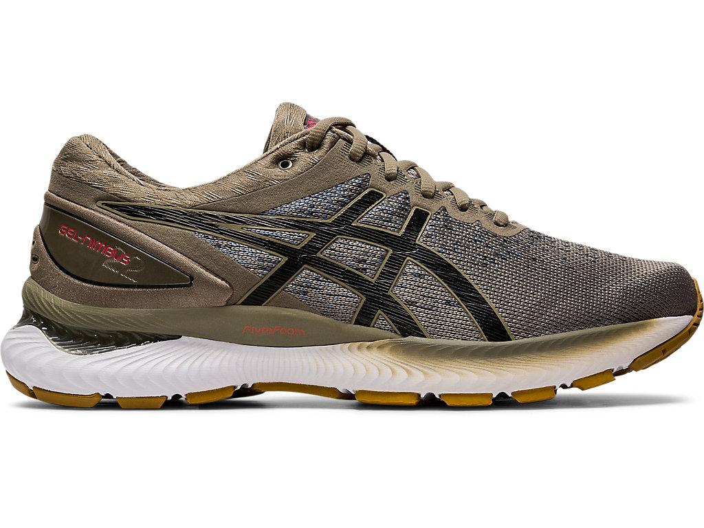 Men's GEL-NIMBUS 22 Knit | Mink/Black | Running Shoes | ASICS