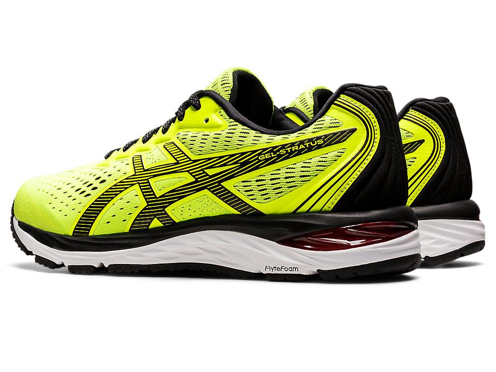 Men's GEL-STRATUS™   SAFETY YELLOW/BLACK   Chaussures running ...