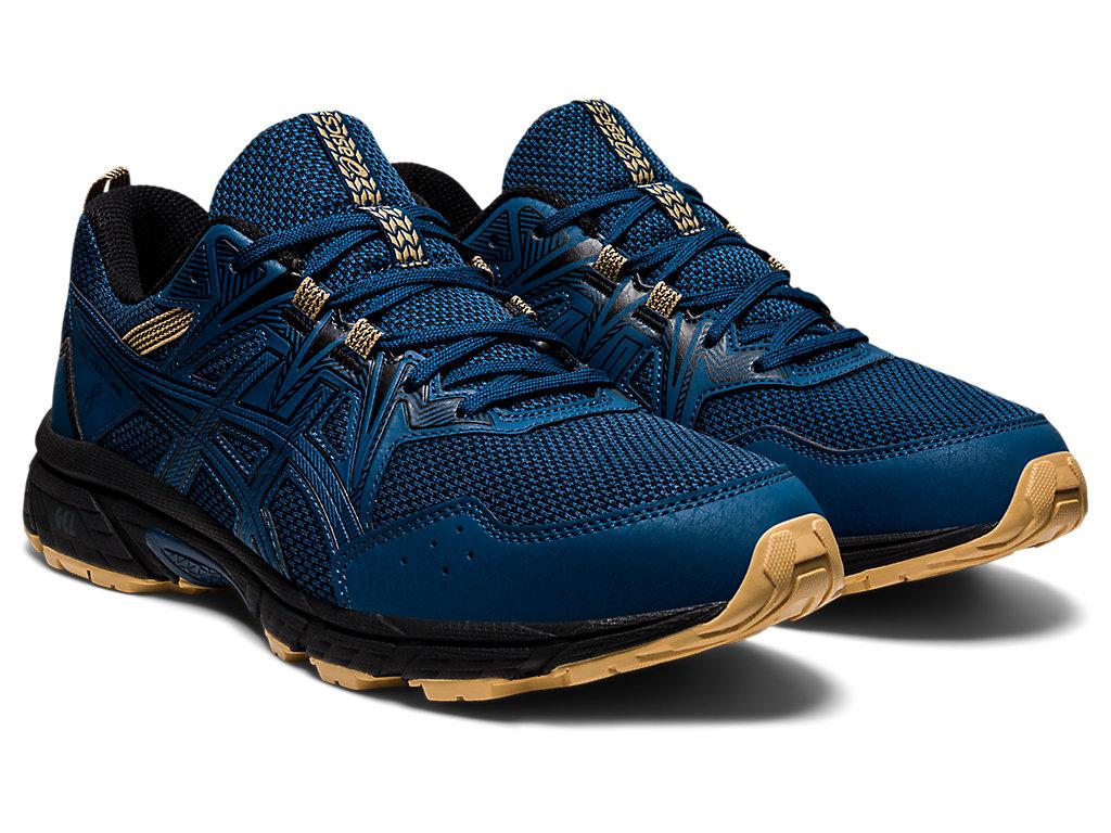 Men's GEL-VENTURE 8 (4E)   Mako Blue/Black   Trail Running   ASICS
