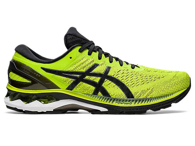 Men's GEL-KAYANO 27 (4E) | Lime Zest/Black | Running Shoes | ASICS