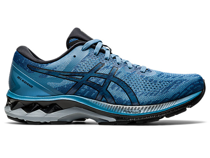 Right side view of GEL-KAYANO 27 MK, GREY FLOSS/BLACK
