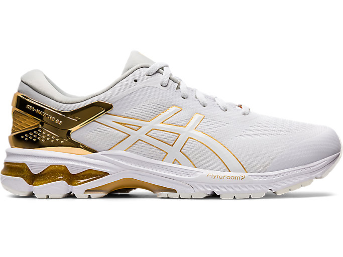 Alternative image view of GEL-KAYANO 26 PLATINUM, WHITE/PURE GOLD