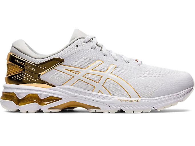 Men's GEL-KAYANO 26 PLATINUM   WHITE/PURE GOLD   Running   ASICS ...