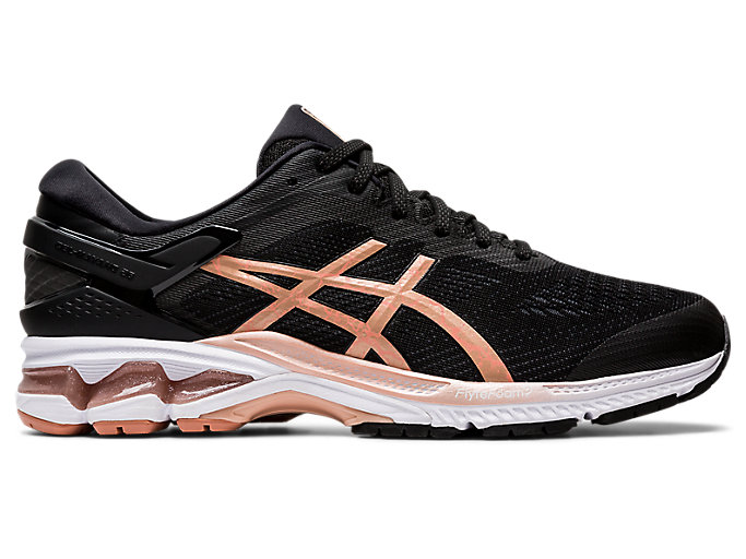 Alternative image view of GEL-KAYANO 26, BLACK/ROSE GOLD