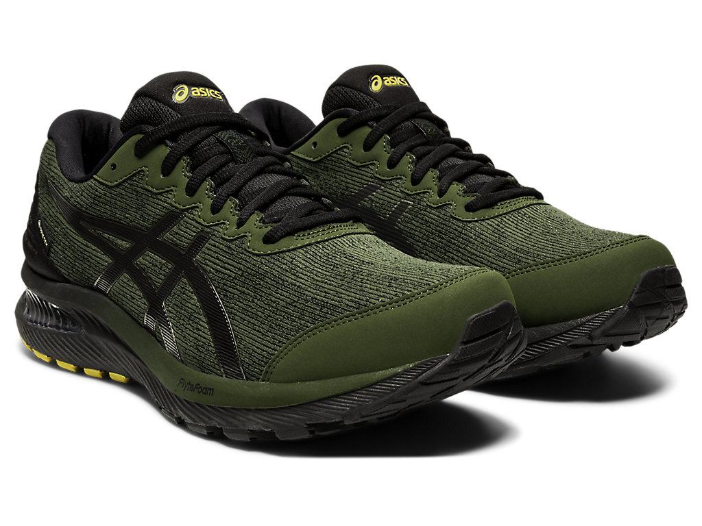 Men's GEL-CUMULUS 22 GTX   Smog Green/Black   Running Shoes   ASICS