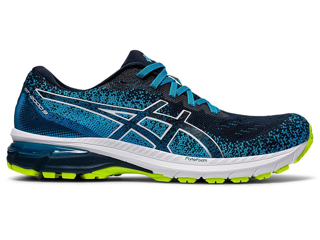 Men's GT-2000 9   French Blue/White   Running Shoes   ASICS