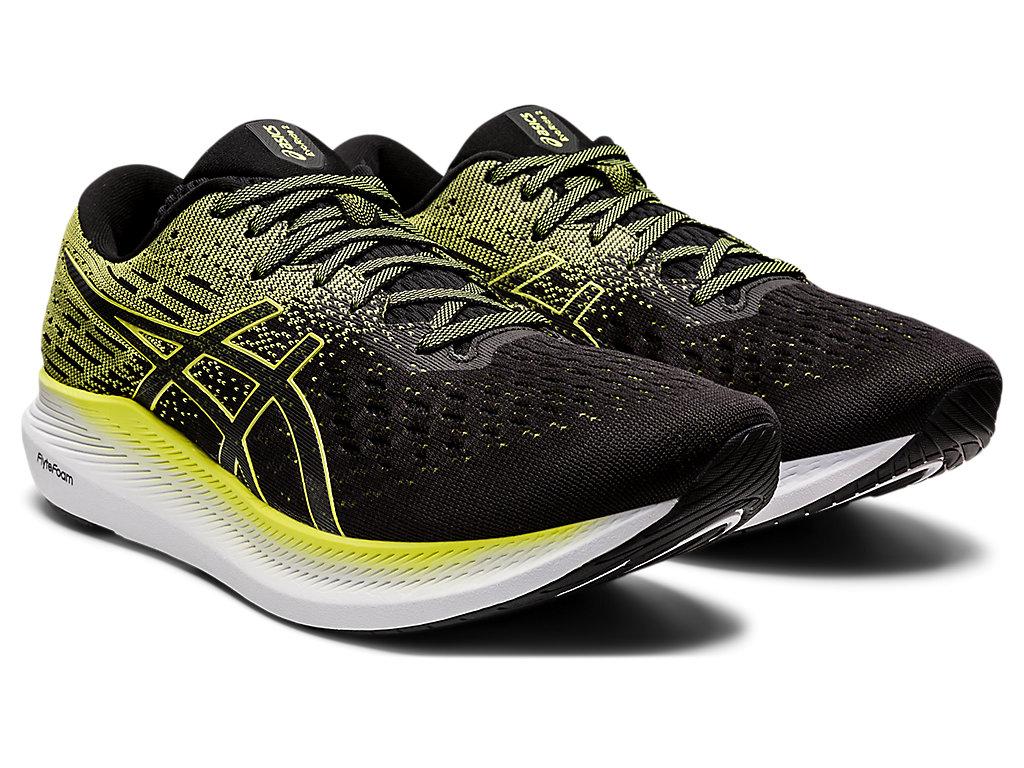 Men's EVORIDE 2 | Black/Glow Yellow | Running Shoes | ASICS