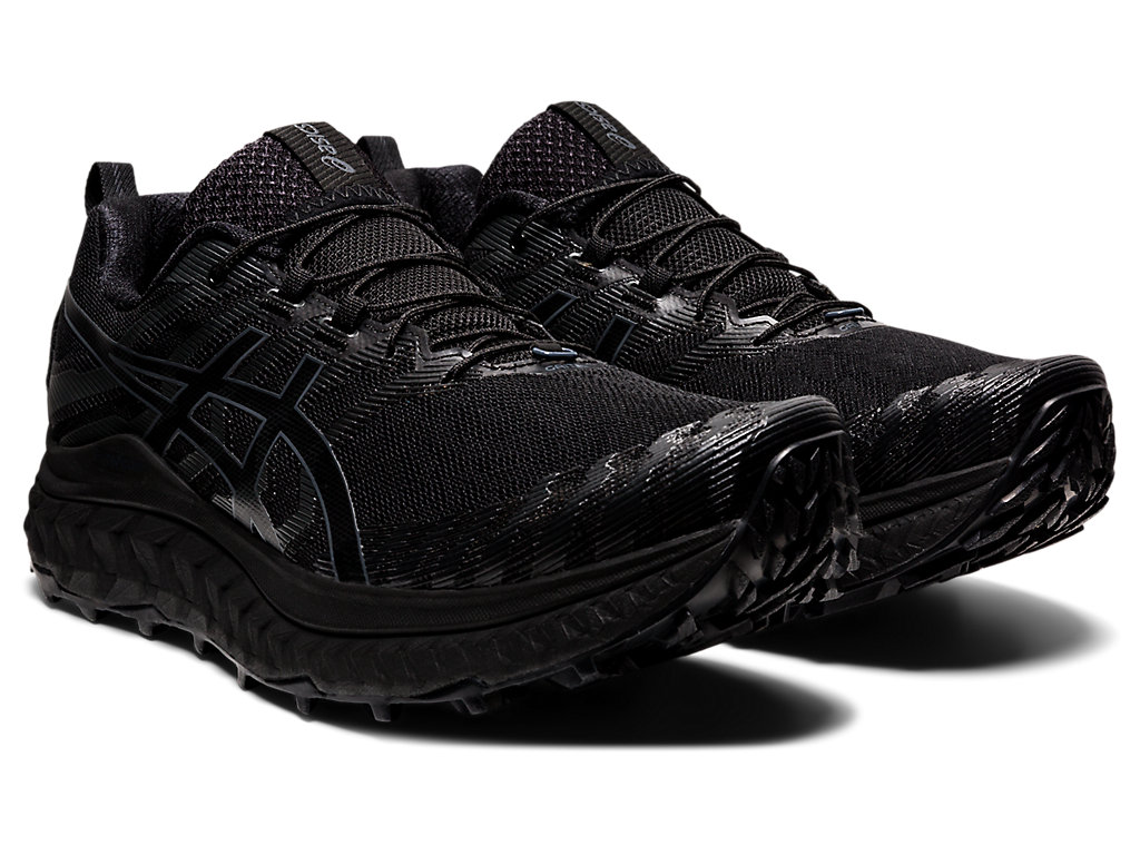 Men's TRABUCO MAX   Black/Black   Trail Running   ASICS