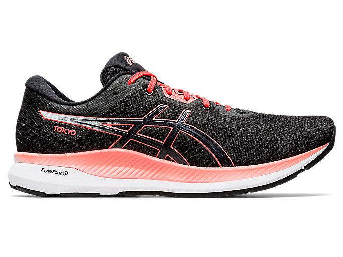 Men's EvoRide TOKYO | Black/Sunrise Red | Running Shoes | ASICS
