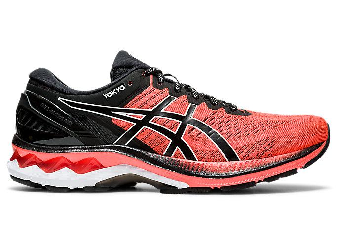 Men's GEL-KAYANO 27 TOKYO   Sunrise Red/Black   Running Shoes   ASICS