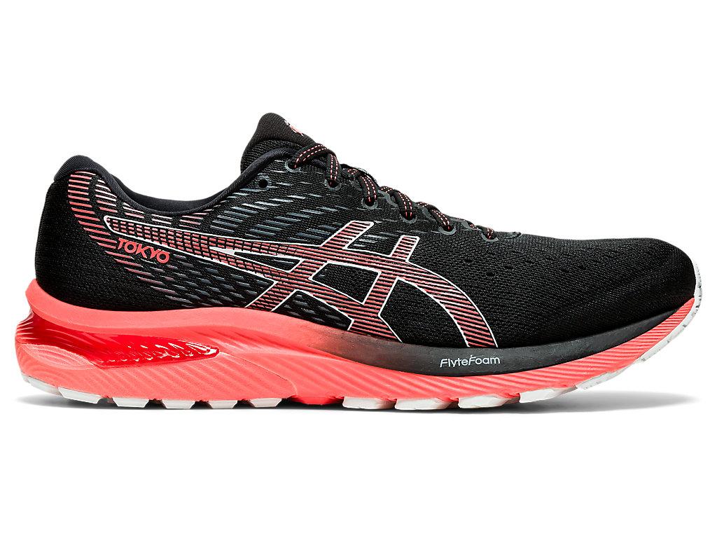 Men's GEL-CUMULUS 22 TOKYO | Black/Sunrise Red | Running Shoes | ASICS