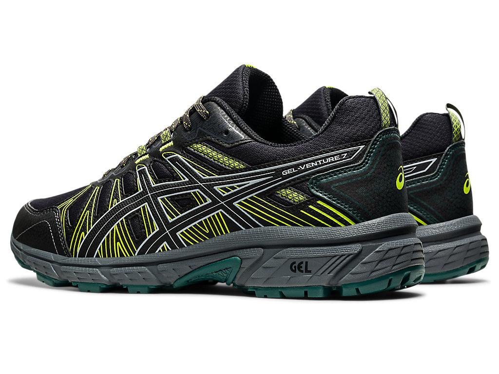 Men's GEL-VENTURE 7   Black/Black   Trail Running   ASICS