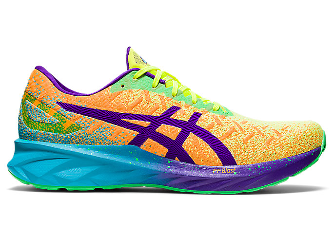 Men's DYNABLAST | Orange Pop/Royal Azel | Running Shoes | ASICS