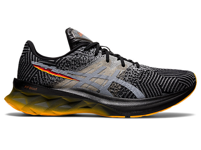 Men's NOVABLAST | Black/Sheet Rock | Running Shoes | ASICS