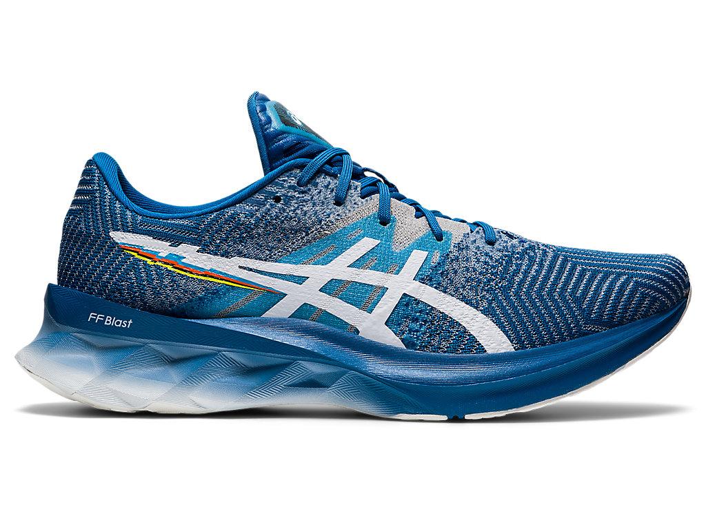 Men's NOVABLAST | Reborn Blue/White | Running Shoes | ASICS