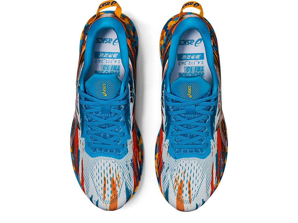 Men's NOOSA TRI 13   Digital Aqua/Marigold Orange   Running Shoes ...