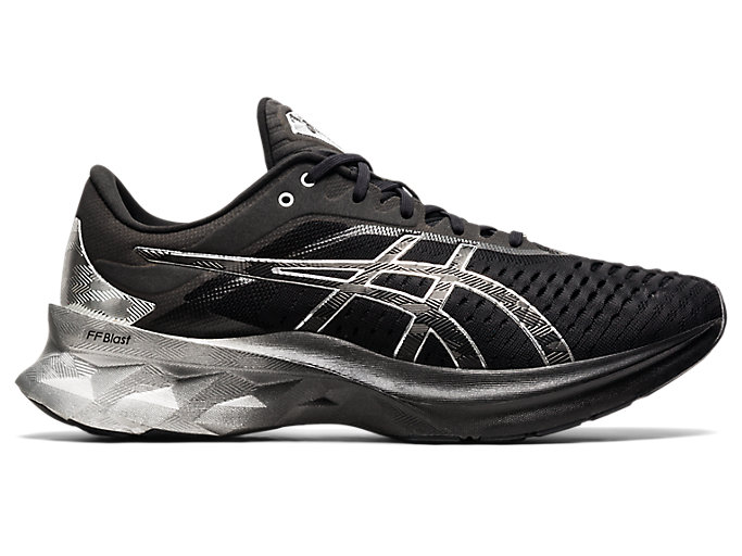 Men's NOVABLAST PLATINUM | Black/Pure Silver | Running Shoes | ASICS