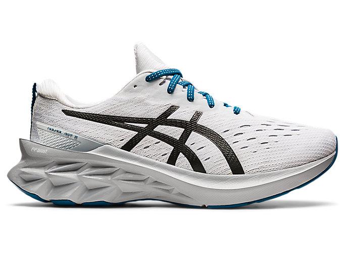 Men's NOVABLAST 2 | White/Black | Running Shoes | ASICS