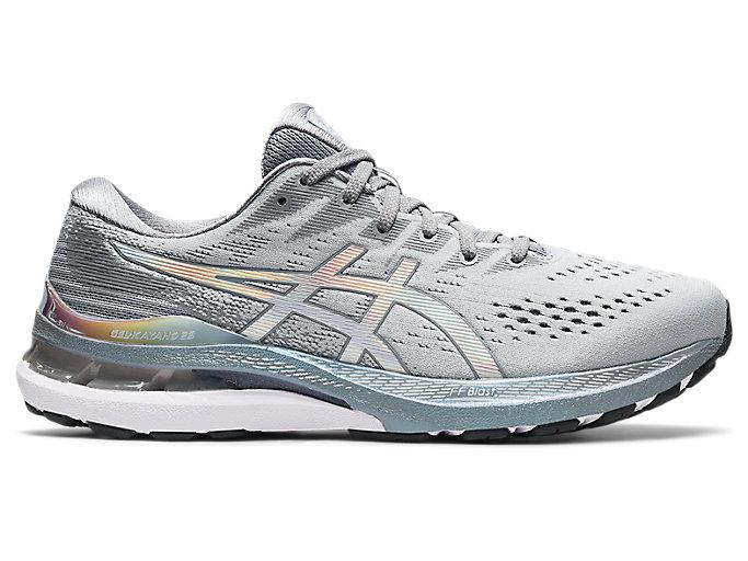 Men's GEL-KAYANO 28 PLATINUM   Piedmont Grey/White   Running Shoes ...