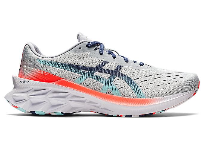 Men's NOVABLAST 2 | Glacier Grey/Thunder Blue | Running Shoes | ASICS
