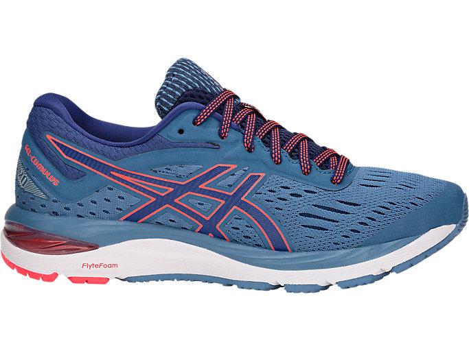 Women's GEL-CUMULUS 20 WIDE   Azure/Blue Print   Running Shoes   ASICS