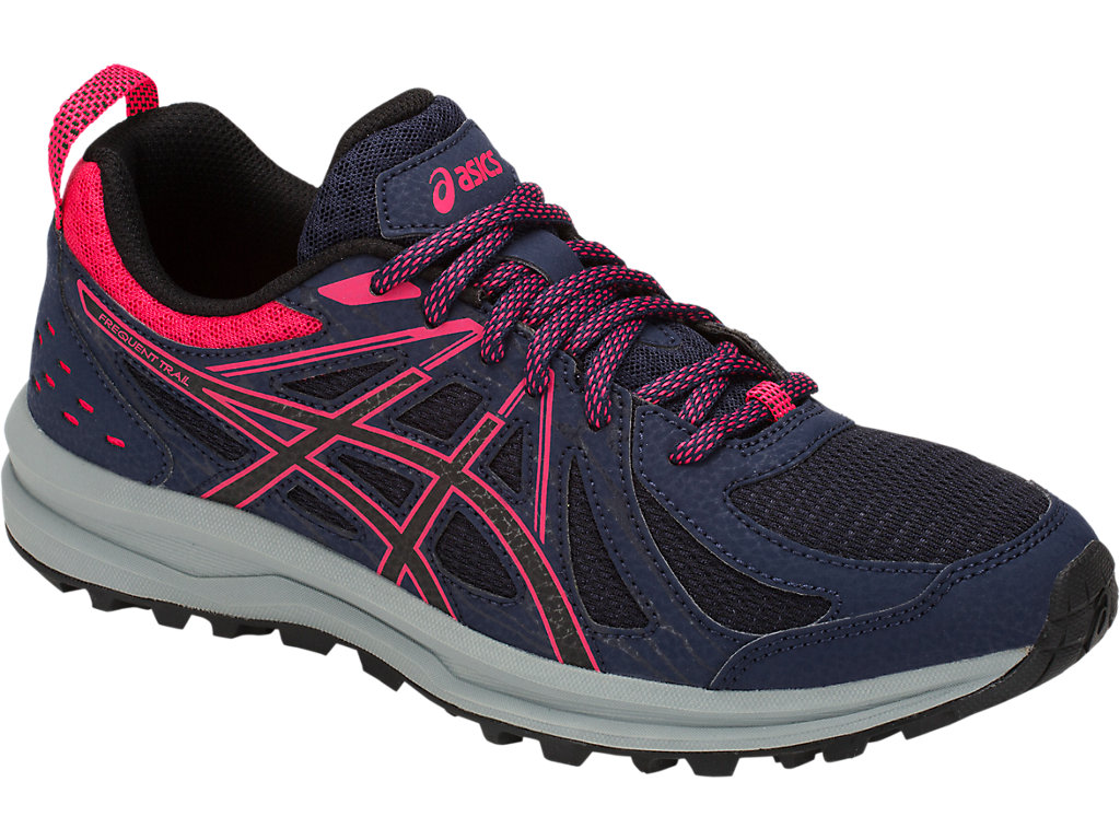 Women's Frequent Trail   Peacoat/Pixel Pink   Running Shoes   ASICS