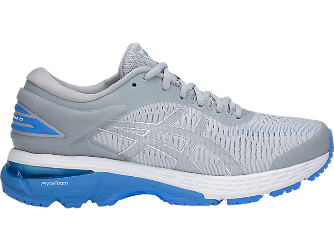 Alternative image view of GEL-KAYANO 25, MID GREY/BLUE COAST