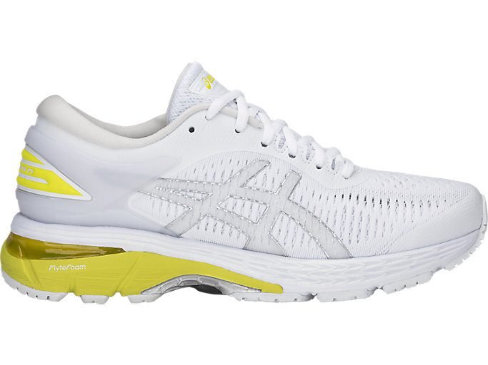Alternative image view of GEL-KAYANO 25, WHITE/LEMON SPARK