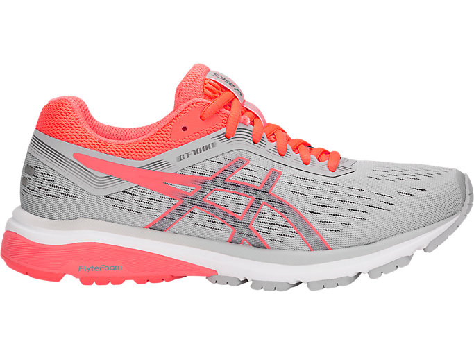 Women's GT-1000 7 | MID GREY/FLASH CORAL | Running | ASICS ...