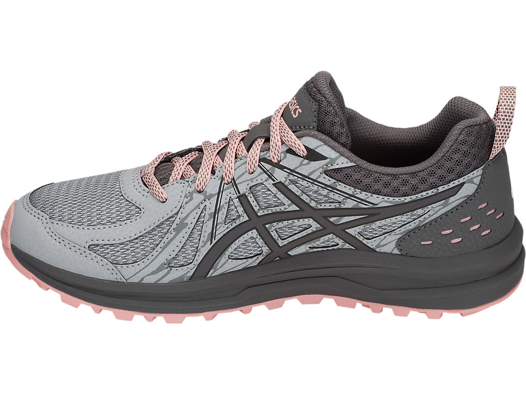 Women's Frequent Trail (D)   Carbon/Stone Grey   Running Shoes   ASICS