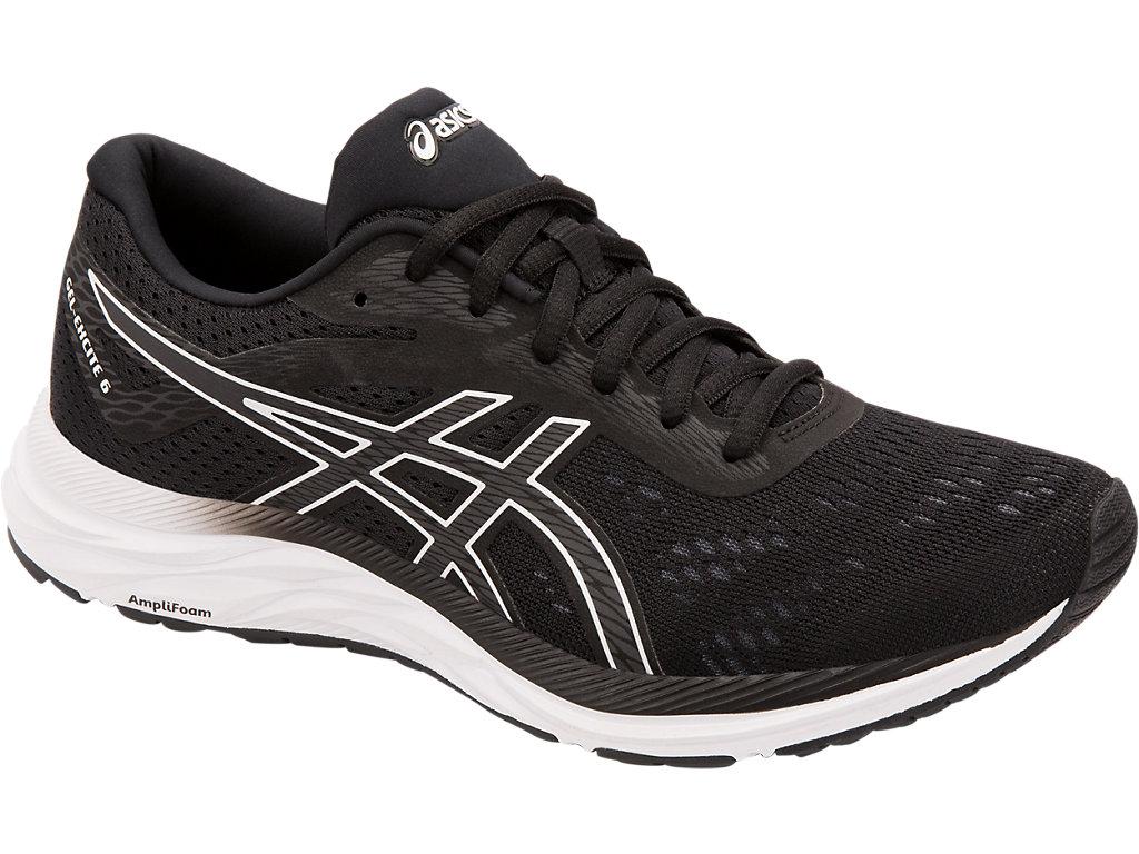 Women's GEL-EXCITE 6   Black/White   Running Shoes   ASICS