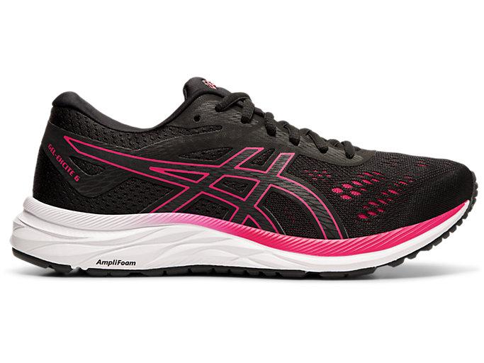Women's GEL-EXCITE 6 | Black/Rose Petal | Running Shoes | ASICS