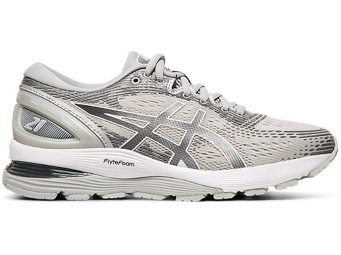 dolor Puñalada triste  Women's GEL-NIMBUS 21 | Mid Grey/Silver | Running Shoes | ASICS