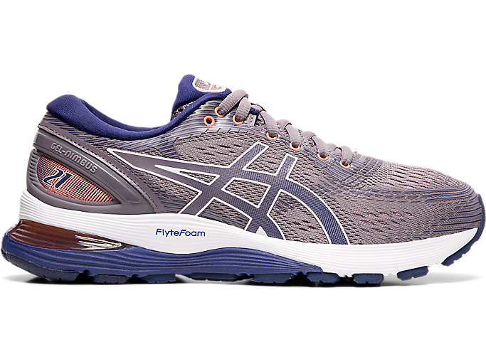 Alternative image view of GEL-NIMBUS 21,  Lavender Grey/Dive Blue