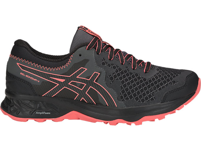 Women's GEL-SONOMA 4 | BLACK/PAPAYA | Running | ASICS Outlet