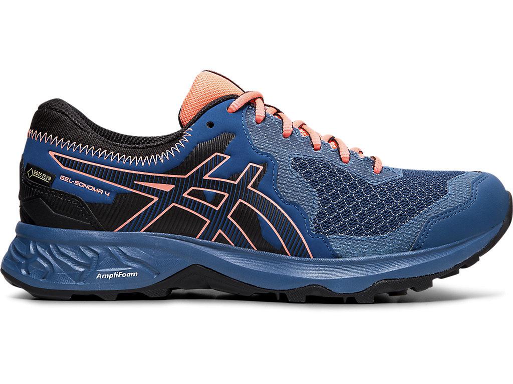 Women's GEL-SONOMA 4 G-TX | Mako Blue/Sun Coral | Trail Running ...