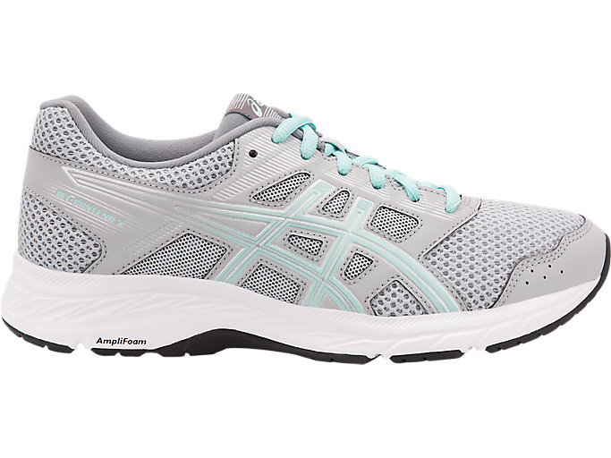 Women's GEL-CONTEND 5 (D) | Mid Grey/ Icy Morning | Running Shoes ...