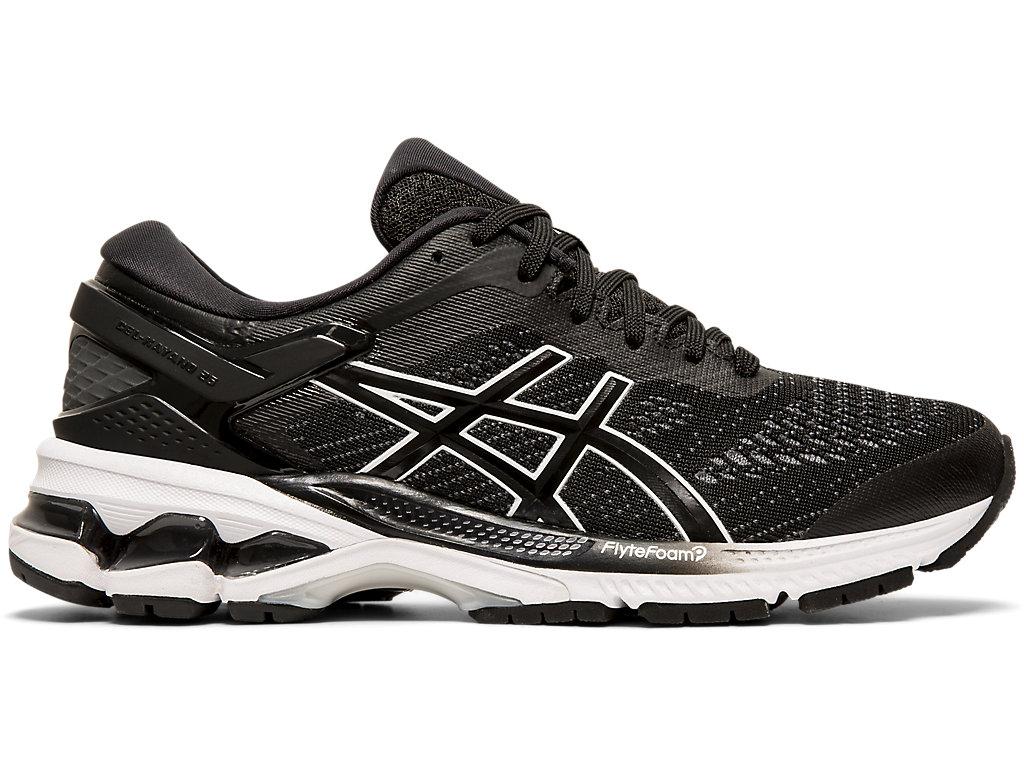 Women's GEL-KAYANO 26   Black/ White   Running Shoes   ASICS