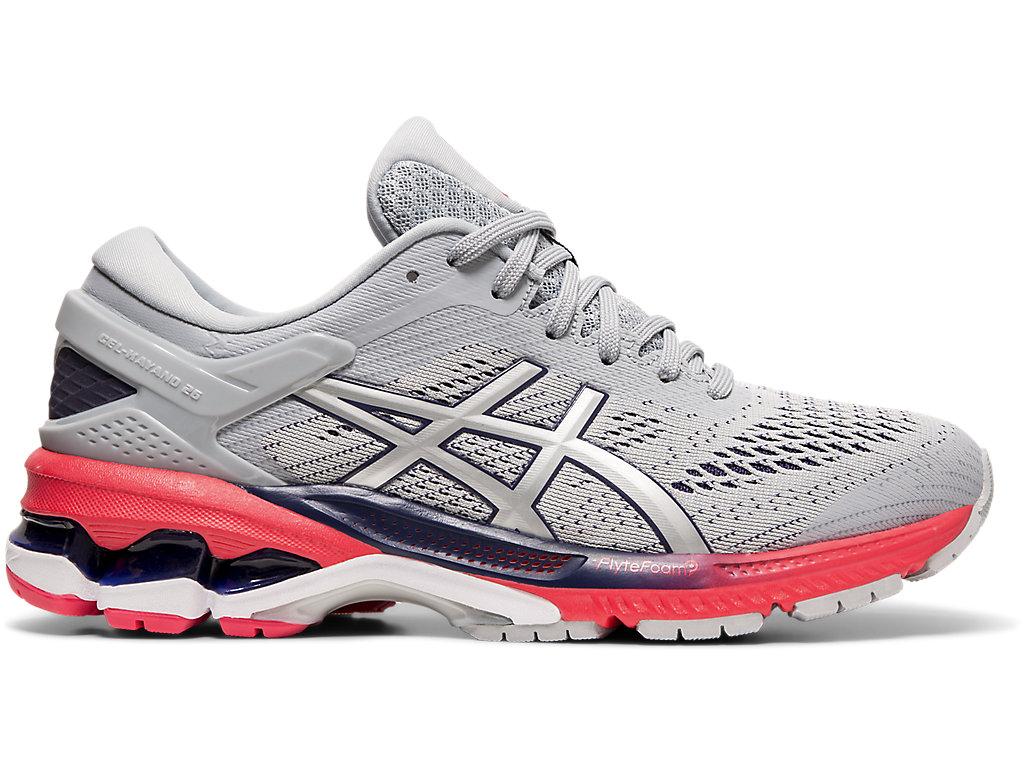 Women's GEL-KAYANO 26 | Piedmont Grey/Silver | Running Shoes | ASICS