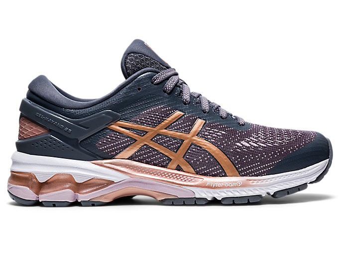 Alternative image view of GEL-KAYANO 26, METROPOLIS/ROSE GOLD
