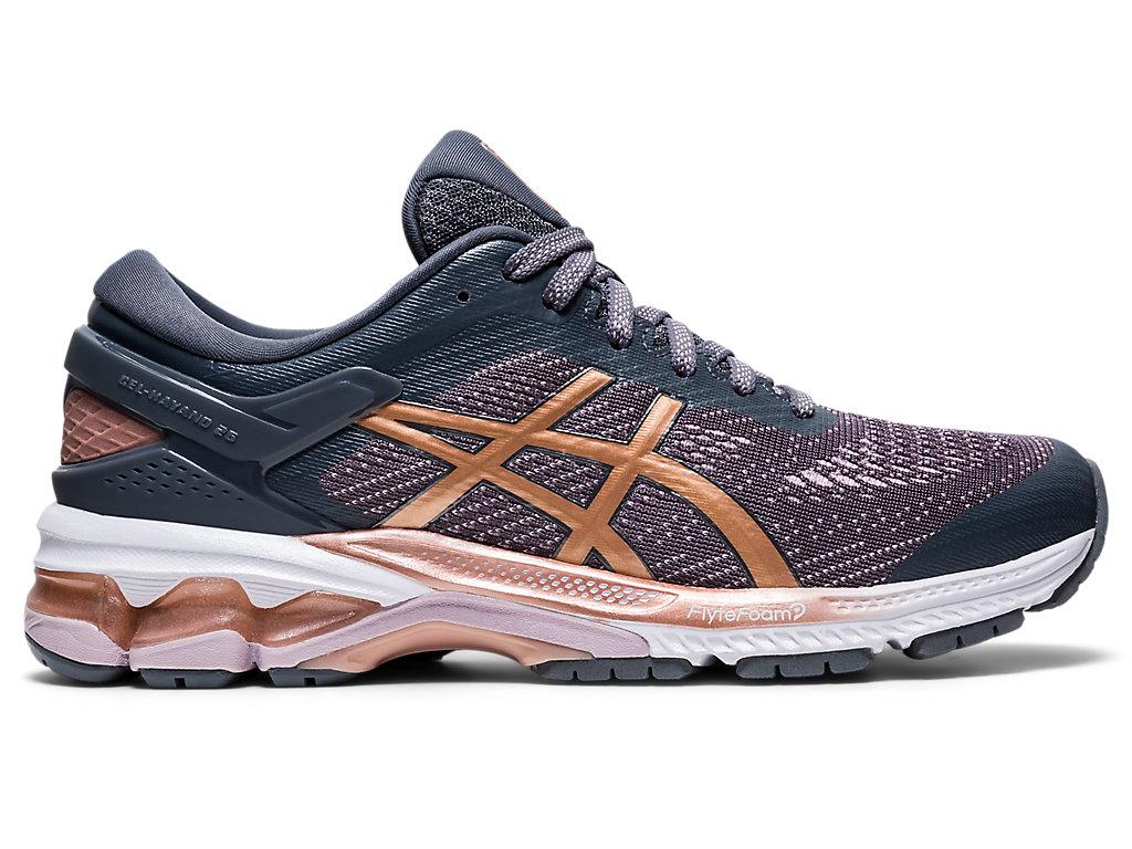 Women's GEL-KAYANO 26 | Metropolis/Rose Gold | Running Shoes | ASICS