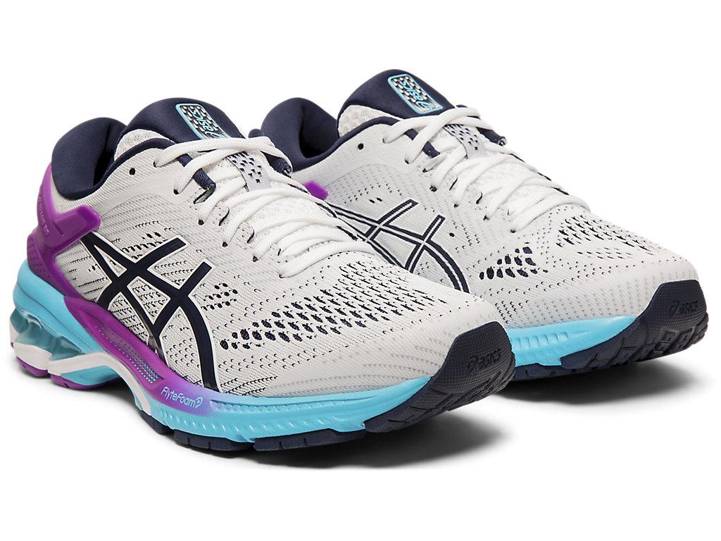Women's GEL-KAYANO 26 | White/Peacoat | Running Shoes | ASICS