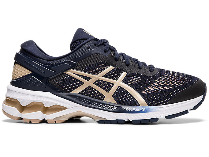 Pareja Gracias lección  Women's GEL-KAYANO 26 | Midnight/Frosted Almond | Running Shoes | ASICS