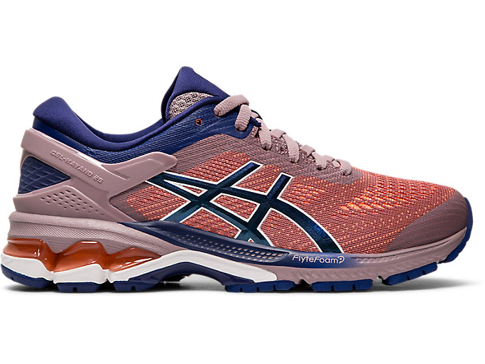Alternative image view of GEL-KAYANO 26, Violet Blush/Dive Blue