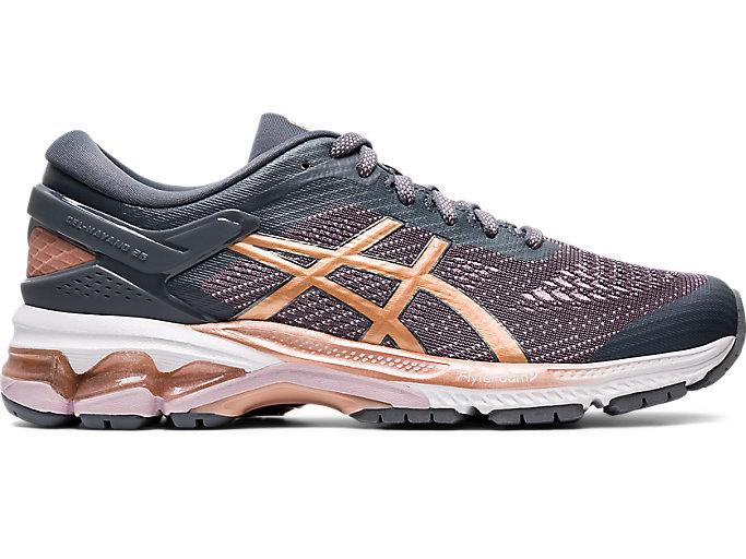 Women's GEL-KAYANO 26 (D) | Metropolis/Rose Gold | Running Shoes ...
