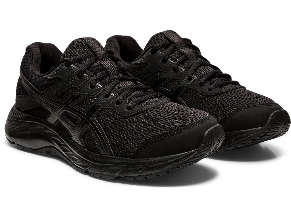 Women's GEL-CONTEND 6 | Black/Black | Running Shoes | ASICS