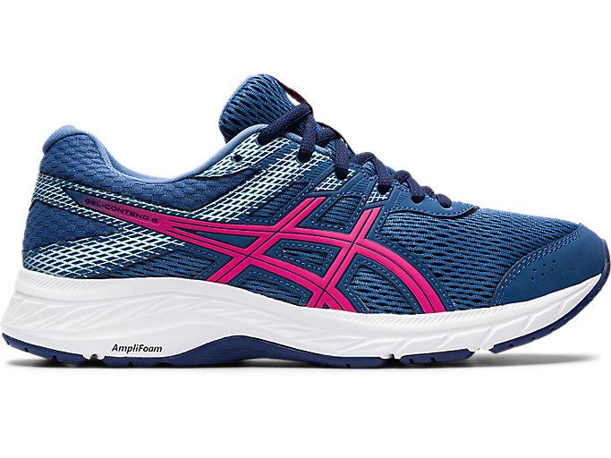 Women's GEL-CONTEND 6 | Grand Shark/Pink Glo | Running Shoes | ASICS